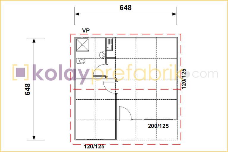 prefabrik-ev-42-m2-plani