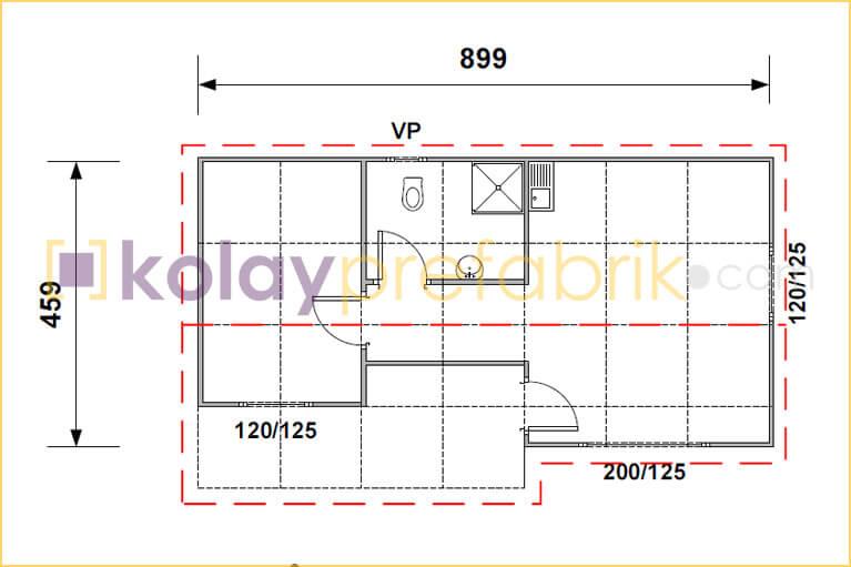 prefabrik-ev-44-m2-plani