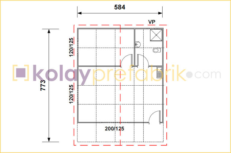 prefabrik-ev-45-m2-plani