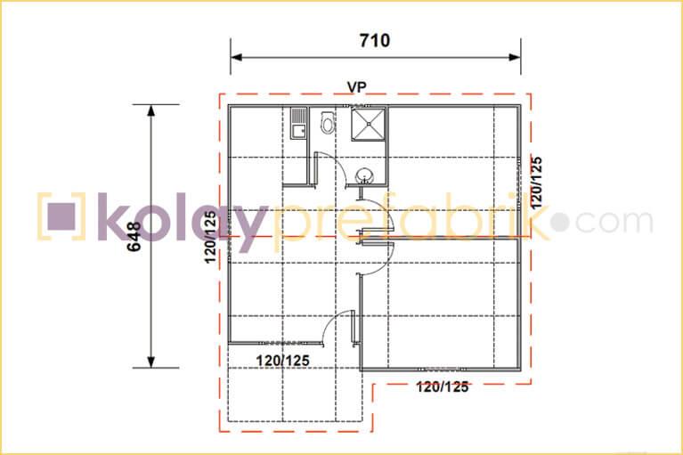 prefabrik-ev-49-m2-plani