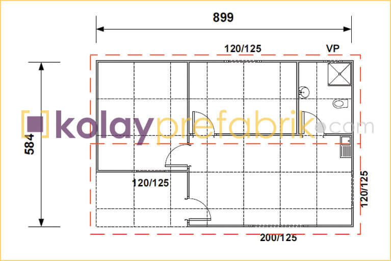 prefabrik-ev-52-m2-plani