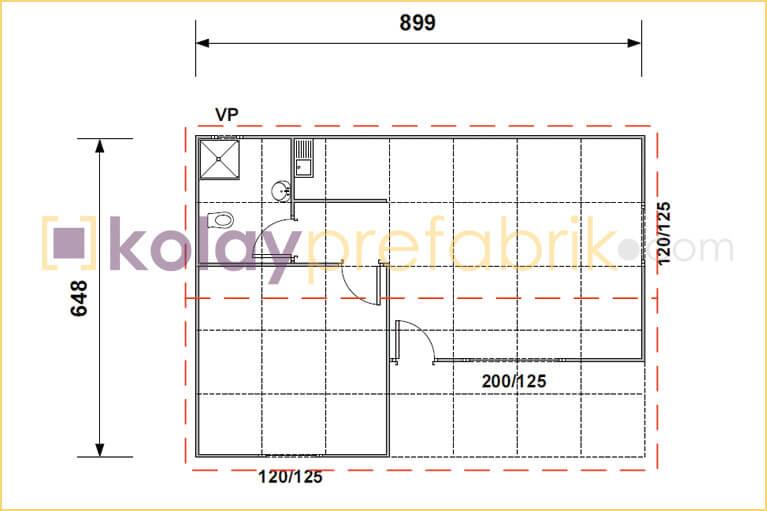 prefabrik-ev-58-m2-plani