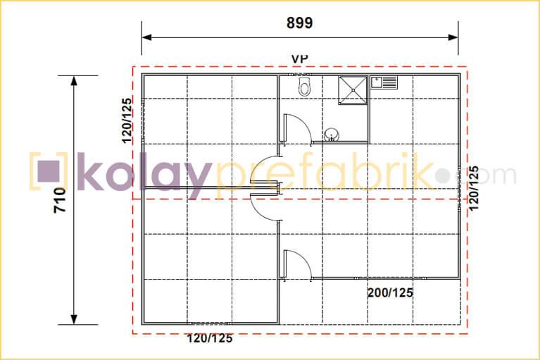 prefabrik-ev-64-m2-plani