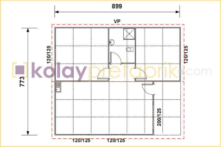 prefabrik-ev-69-m2-plani