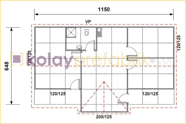 prefabrik-ev-77-m2-plani