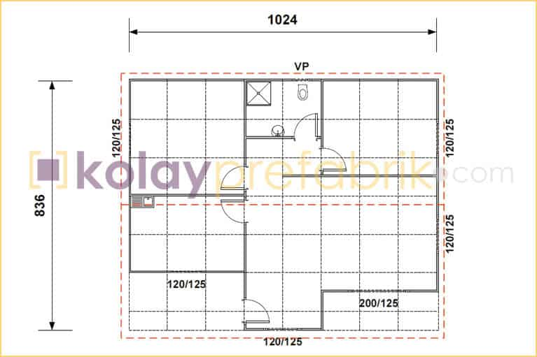 86-m2-prefabrik-ev-plani