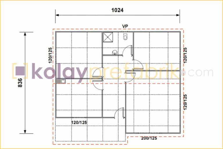 89-m2-prefabrik-ev-plani