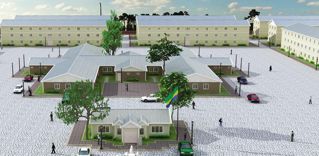 prefabrik ev - yurt dışı prefabrik sosyal tesis resim
