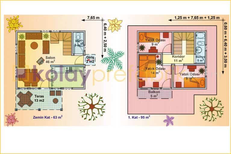 iki-katli-prefabrik-ev-158-m2-P158B-01D-plan