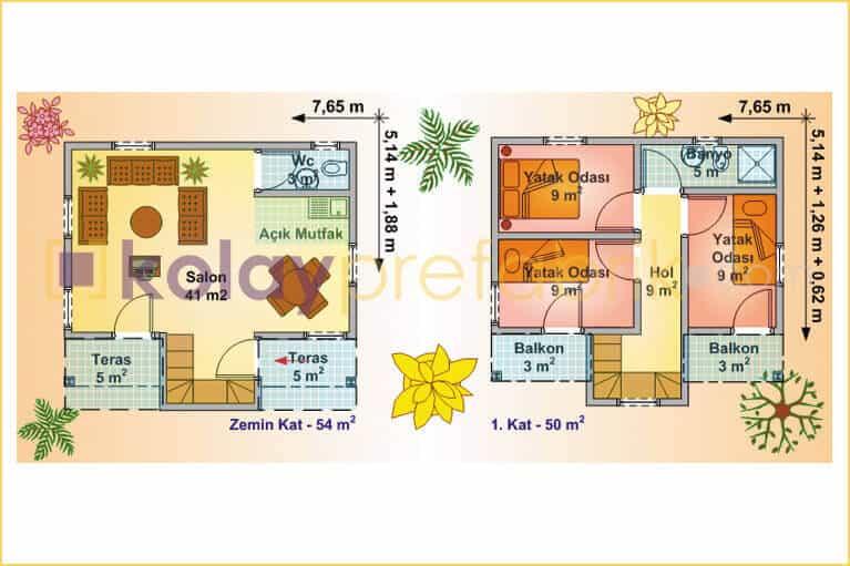 prefabrik-ev-iki-katli-104-m2-P104B-02D-plan