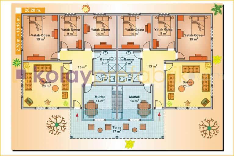 tek-katli-ikiz-prefabrik-ev-232-m2-P232B-01T-plan