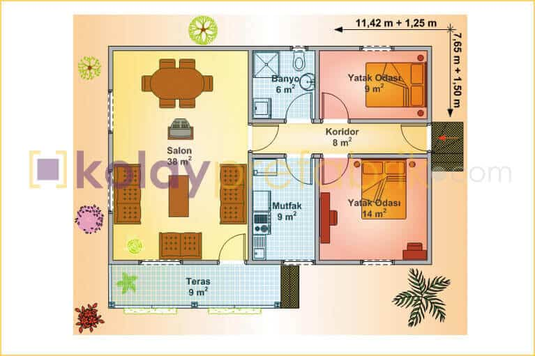 98-m2-one-story-prefabricated-house-P98B-01T-floor-plan